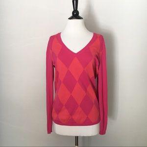 TOMMY HILFIGER Pima Cotton Argyle Sweater Size M